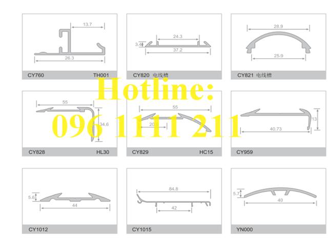 Chi tiết về kích thước, cấu tạo hình thành và vị trí lắp đặt sao cho phù hợp với nẹp nhôm chống trượt