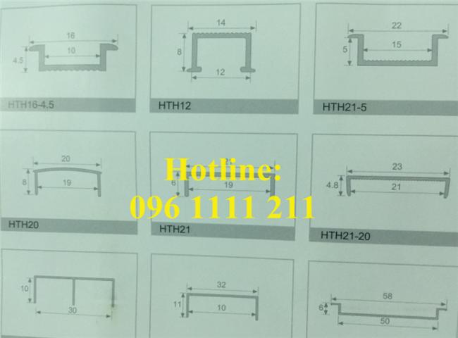 Bản vẽ chi tiết về sản phẩm nẹp nhôm chữ U